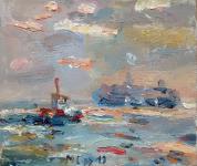 Schiffe auf der Elbe, 2019